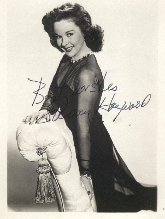 Susan Hayward autograph