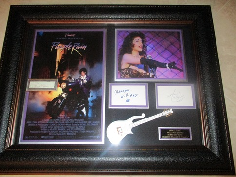 Prince signed display